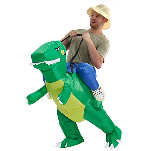 YEAHBEER Dinosaur Inflatable Costume T-Rex Fancy Dress Halloween Blow up Costumes Adult/Kids