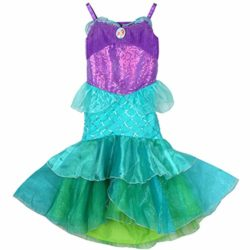 YaphetS-Little-Girls-Mermaid-Princess-Fancy-Costume-Fairy-Tales-Dresses-with-Free-Crown-Ring-and-Magic-Wand-0-0