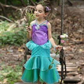 YaphetS-Little-Girls-Mermaid-Princess-Fancy-Costume-Fairy-Tales-Dresses-with-Free-Crown-Ring-and-Magic-Wand-0-1