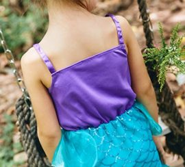 YaphetS-Little-Girls-Mermaid-Princess-Fancy-Costume-Fairy-Tales-Dresses-with-Free-Crown-Ring-and-Magic-Wand-0-5