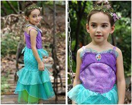 YaphetS-Little-Girls-Mermaid-Princess-Fancy-Costume-Fairy-Tales-Dresses-with-Free-Crown-Ring-and-Magic-Wand-0-6