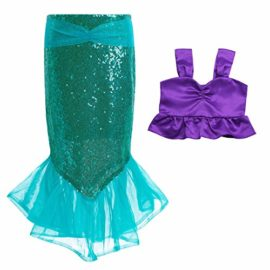 iEFiEL-Kids-Girls-Shiny-Sequins-Mermaid-Tails-Party-Holiday-Costume-Outfits-Fancy-Dress-0-3