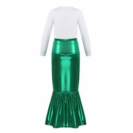 iEFiEL-Kids-Little-Mermaid-Dress-up-Skirt-Shell-T-Shirt-Outfit-Girls-Princess-Clothes-Halloween-Cosplay-Party-0-3