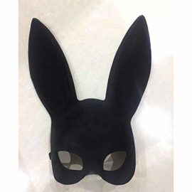 jingyuu-Bunny-Flocking-Mask-Halloween-Masks-Costume-Masquerade-Party-Dance-Party-Prom-Cosplay-Mask-0-0
