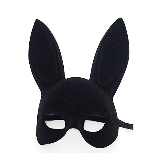 jingyuu Bunny Flocking Mask Halloween Masks Costume Masquerade Party Dance Party Prom Cosplay Mask