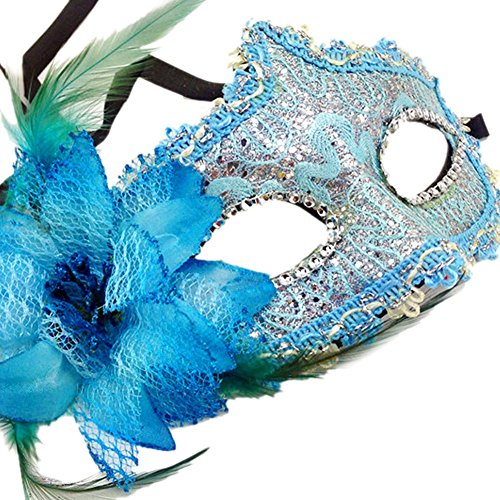 jingyuu Venetian Lace Floral Novelty Halloween Masks Costume Masquerade Party Latex Dance Party Prom Cosplay Mask