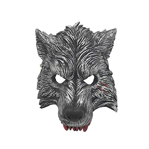 jingyuu Wolf Novelty Halloween Masks Costume Masquerade Party Latex Dance Party Prom Cosplay Mask